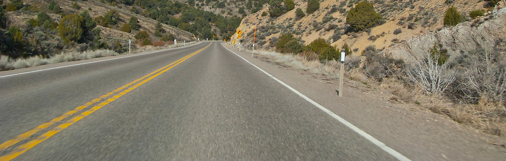 US 50 climbs a canyon in the high desert of eastern NV Loneliest road in America US 6