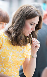 July 20, 2017 - Heidelberg, Germany - Image licensed to i-Images Picture Agency. 20/07/2017. Heidelberg, Germany. The Duke and Duchess of Cambridge at a traditional German market  in Heidelberg, Germany on day four of their Royal Tour. Picture by POOL  / i-Images UK OUT FOR 28 DAYS (Credit Image: © Pool/i-Images via ZUMA Press)
