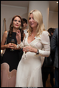ELENA SHCHUKINA; SIGRID KIRK, Born in the USSR, Design exhibition opening. Gallery Elena Shchukina, Beauchamp Place, Knightsbridge. London. 15 September 2014.