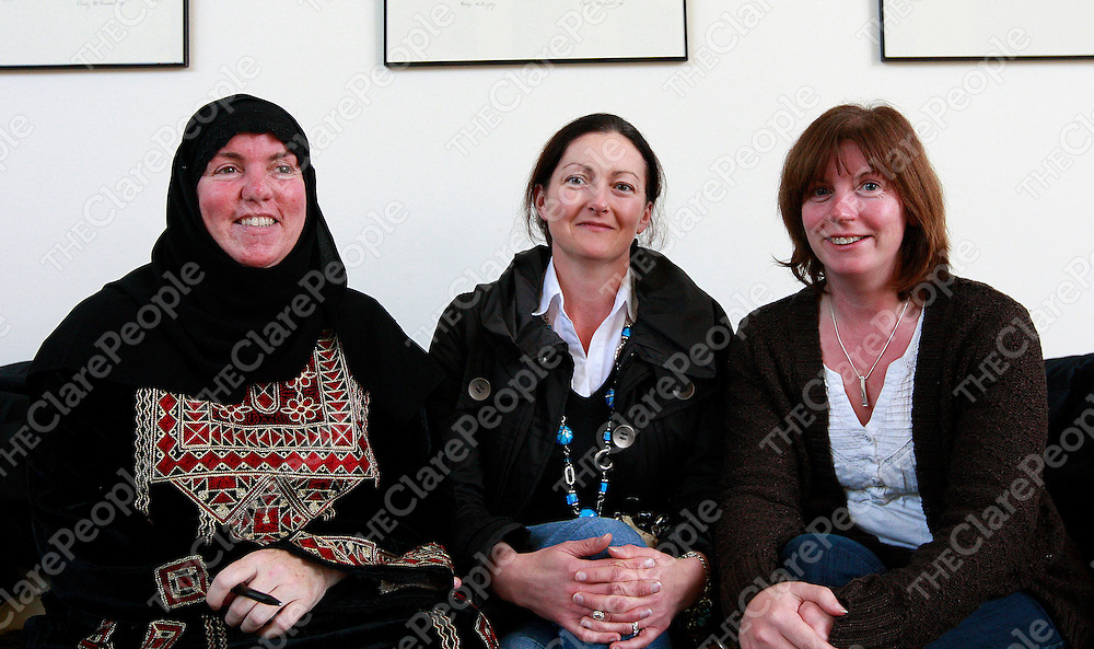9/11/12  Amina Liani, Catherine Gleeson and Niamh Doyle are pictured at the opening of Cafe Noir In the Glor theatre. <br /> Pictured Credit Tony Grehan Press 22