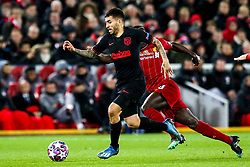 Angel Correa of Atletico Madrid - Mandatory by-line: Robbie Stephenson/JMP - 11/03/2020 - FOOTBALL - Anfield - Liverpool, England - Liverpool v Atletico Madrid - UEFA Champions League Round of 16, 2nd Leg