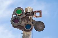 Railroad signal, Rhyolite ghost town, Nevada