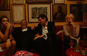 Marina Hanbury, David Ker,  Lady Sophia Hesketh, Party given by Taki and Alexandra Theodorakopoulos. Annabels. London. 26 September 2006. -DO NOT ARCHIVE-© Copyright Photograph by Dafydd Jones 66 Stockwell Park Rd. London SW9 0DA Tel 020 7733 0108 www.dafjones.com