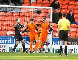 Dundee United's Mark Durnan (4) cele scoring their goal. Dundee United 1 v 1 Morton, Scottish Championship game played 25/2/2017 at Tannadice Park.