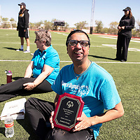 Sandip Patel is named the Special Olympics New Mexico Area 6 Athlete of the Year 2019, Saturday, May 4 at the Angelo DiPaolo Memorial Stadium in Gallup.