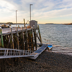 The fishing pier Lubec, Maine.