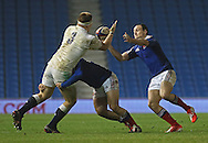 England's Paul Hill (Yorkshire Carnegie) catches the ball during the Under 20s Six Nations Championship match between England and France at the American Express Community Stadium, Brighton and Hove, England on 20 March 2015. Photo by Phil Duncan.