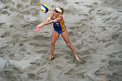 Marketa Slukova CZE in action during the third day of the beach volleyball event King of the Court at Jaarbeursplein on September 11, 2020 in Utrecht.
