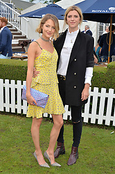 Left to right, TESS WARD and ANNABEL SIMPSON at the Laureus King Power Cup polo match held at Ham Polo Club, Richmond on 16th June 2016.