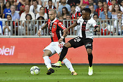 August 19, 2017 - Nice, France - Wesley Sneijder (OGC Nice) - Lebogang Phiri  (Credit Image: © Panoramic via ZUMA Press)