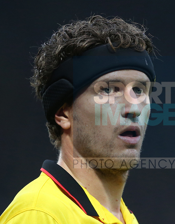 Watford's Daryl Janmaat wears a protective headband during the Premier League match at Vicarage Road Stadium, London. Picture date December 10th, 2016 Pic David Klein/Sportimage