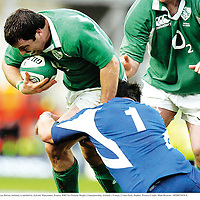 11 February 2007; Marcus Horan, Ireland, is tackled by Sylvain Marconnet, France. RBS Six Nations Rugby Championship, Ireland v France, Croke Park, Dublin. Picture Credit: Matt Browne / SPORTSFILE