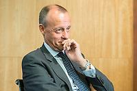 """18 JUN 2018, BERLIN/GERMANY:<br /> Friedrich Merz, Vorsitzender des Aufsichtsrates BlackRock Asset Management Deutschland AG, Veranstaltung Wirtschaftsforum der SPD: """"Finanzplatz Deutschland 2030 - Vision, Strategie, Massnahmen!"""", Haus der Commerzbank<br /> IMAGE: 20180618-01-160"""