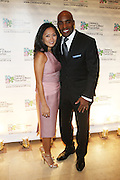 Tiki Barber and wife, Ginny Barber at Children's Cancer & Blood Foundation Breakthrough Ball held at The Plaza Hotel on October 20, 2009..