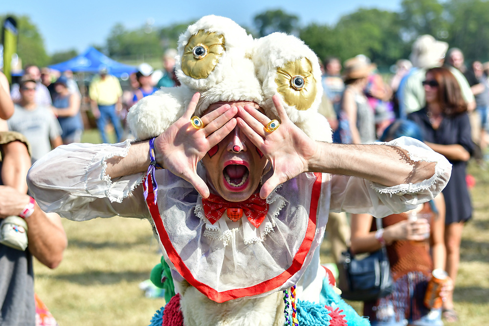 A Festival attendee poses for a photo during  Pilgrimage Music & Cultural.