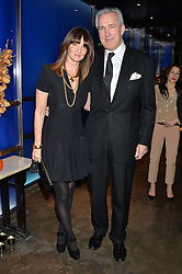 JEREMY KING and LAUREN GURVICH at a dinner hosted by Anya Hindmarch and Dylan Jones to celebrate the end London Collections: Men 2014 held at Hakkasan, 8 Hanway Place, London on 8th January 2014.