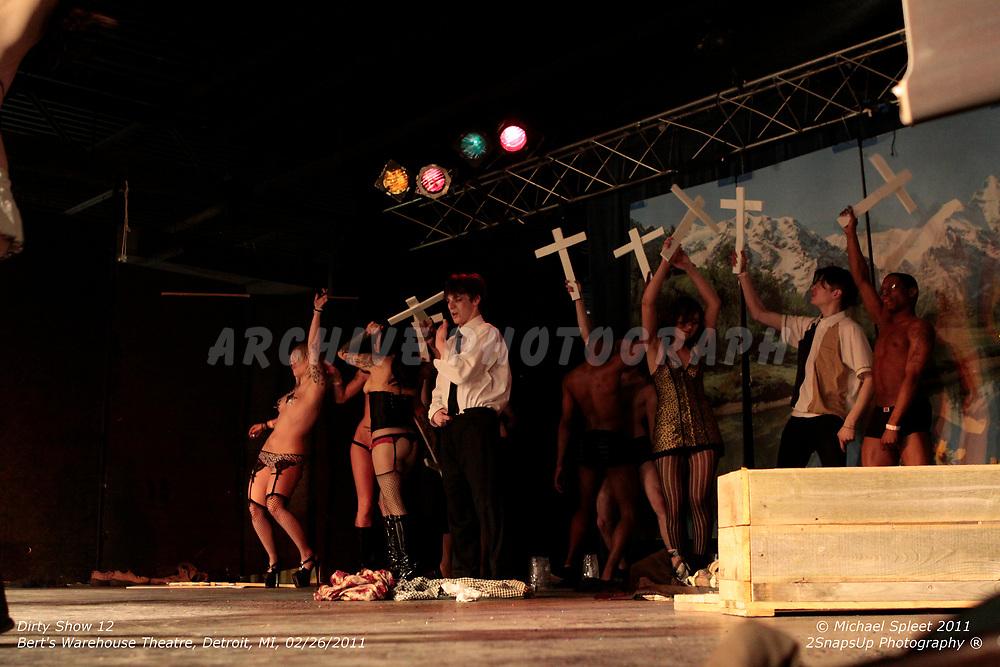 DETROIT, MI, SATURDAY, FEB. 26, 2011: Dirty Show 12, God Hates Fags at Bert's Warehouse Theatre, Detroit, MI, 02/26/2011.  (Image Credit: Michael Spleet / 2SnapsUp Photography)
