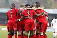 Crawley Town players celebrate a goal during the EFL Sky Bet League 2 match between Crawley Town and Cambridge United at the Checkatrade.com Stadium, Crawley, England on 12 November 2016. Photo by Andy Walter.