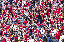 September 30, 2018 - Harrison, New Jersey, United States - Fans reacts during regular MLS game between Atlanta United FC and Red Bulls at Red Bull Arena Red Bulls won 2 - 0 (Credit Image: © Lev Radin/Pacific Press via ZUMA Wire)