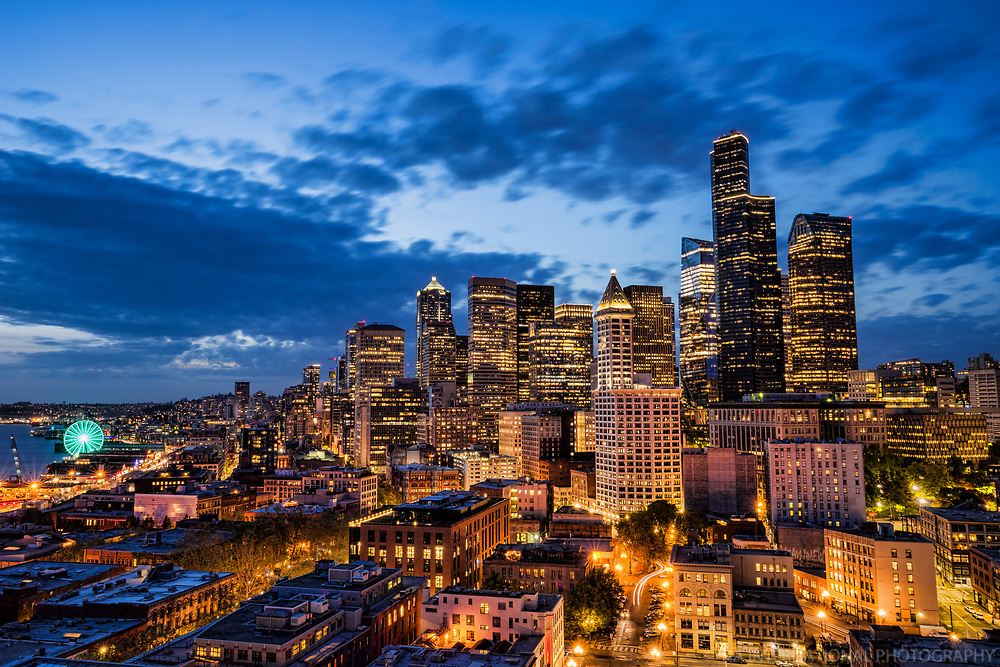 Downtown Seattle, Twilight Transition