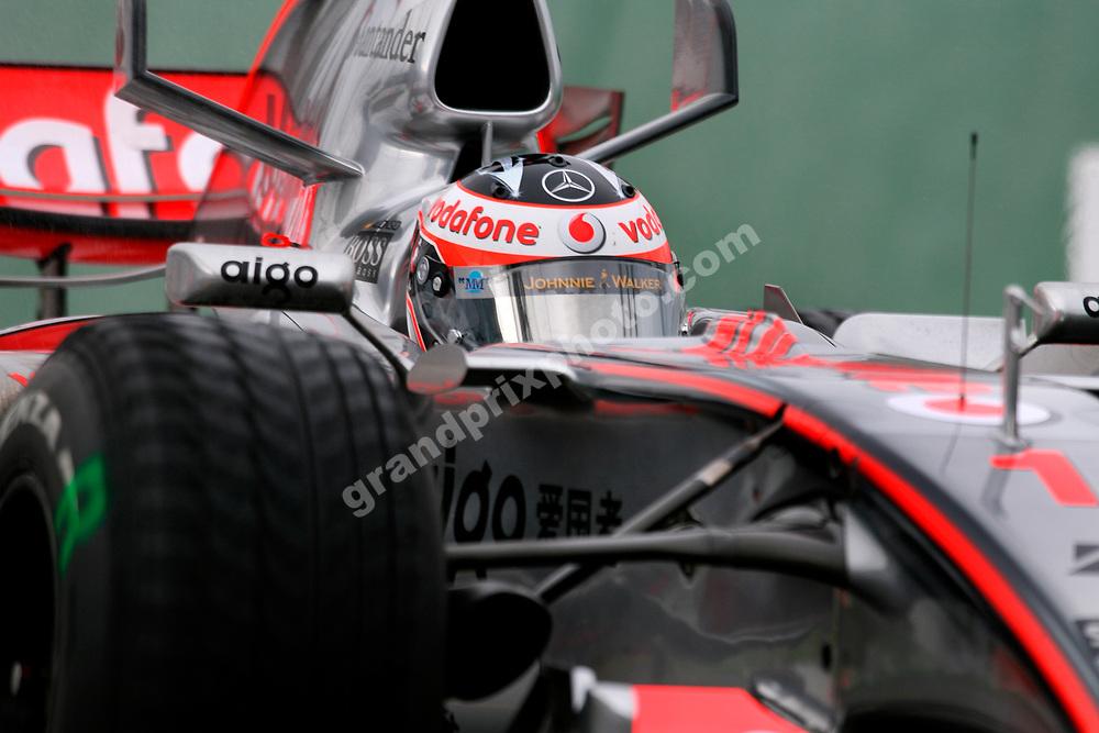 Fernando Alonso (McLaren-Mercedes) during practice for the 2007 Australian Grand Prix in Melbourne. Photo: Grand Prix Photo