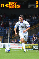 Bury's Danny Nardiello in action. Skybet football league two match, Bury v Burton Albion at the JD Stadium, Gigg Lane in Bury, Lancs on Saturday 20th Sept 2014.<br /> pic by David Richards,  Andrew Orchard sports photography.
