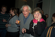 DAVID ELLIOT AND VAL HENESSY, party to celebrate the 100th issue of Granta magazine ( guest edited by William Boyd.) hosted by Sigrid Rausing and Eric Abraham. Twentieth Century Theatre. Westbourne Gro. London.W11  15 January 2008. -DO NOT ARCHIVE-© Copyright Photograph by Dafydd Jones. 248 Clapham Rd. London SW9 0PZ. Tel 0207 820 0771. www.dafjones.com.