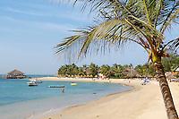 """Sénégal, région de Thiès, la Petite-Côte, plage de Saly // Senegal. Saly beach on the """"petite cote"""" (small coast)."""