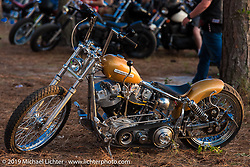 Jeff Cochran's latest build on Saturday at the Smokeout. Rockingham, NC. USA. June 20, 2015.  Photography ©2015 Michael Lichter.