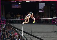 Athletics - 2017 IAAF London World Athletics Championships - Day One<br /> <br /> Event: Womens Pole Vault  Qualifying<br /> <br /> Liza Ryzih clears the bar <br /> <br /> <br /> COLORSPORT/DANIEL BEARHAM