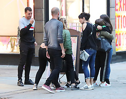 Manchester City manager Pep Guardiola is spotted taking a group of family and friends to his own Catalan Restaurant TAST on King Street in Manchester city centre on Tuesday evening.