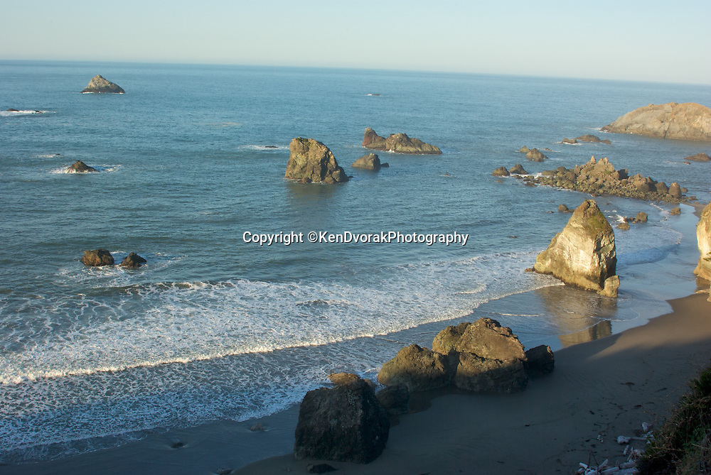 Along the Oregon coast you find these interesting rock formations called haystacks.