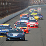 31 July 2011: The Pace Car leads the field of drivers down the front straight during the Brickyard 400 NASCAR Sprint Cup Series race at the Indianapolis Motor Speedway in Indianapolis, IN