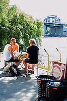 Cross-section of Stockholm's funky residents in hipster haven, Hornstull.