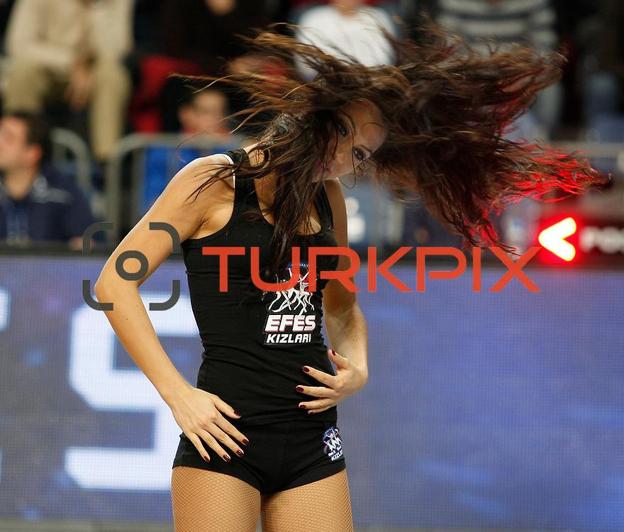 Anadolu Efes's and Mersin BSB's during their Turkish Basketball League match Anadolu Efes between Mersin BSB at Sinan Erdem Arena in Istanbul, Turkey, Saturday, January 14, 2012. Photo by TURKPIX