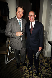 Left to right, JEREMY WAYNE Restaurant Editor of Tatler and LOYD GROSSMAN at the Tatler Restaurant Awards, at the Langham Hotel, Portland Place, London n 10th May 2010.