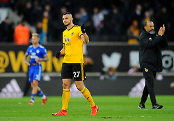Romain Saiss of Wolverhampton Wanderers thanks fans at the final whistle- Mandatory by-line: Nizaam Jones/JMP - 02/03/2019 - FOOTBALL - Molineux - Wolverhampton, England -  Wolverhampton Wanderers v Cardiff City - Premier League