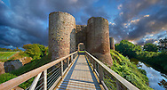 The medieval Llantilio Castle, circa 1185-87, better known as the White Castle, the Monnow valley, Monmouthshire, Wales .<br /> <br /> Visit our WALES HISTORIC PLACES PHOTO COLLECTIONS for more photos to browse or download or buy as prints https://funkystock.photoshelter.com/gallery-collection/Images-of-Wales-Welsh-Historic-Places-Pictures-Photos/C0000UEicBhu1tQM<br /> .<br /> Visit our MEDIEVAL PHOTO COLLECTIONS for more   photos  to download or buy as prints https://funkystock.photoshelter.com/gallery-collection/Medieval-Middle-Ages-Historic-Places-Arcaeological-Sites-Pictures-Images-of/C0000B5ZA54_WD0s