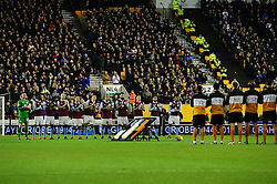 minutes applause in remembrance for former Aston Villa and Wolves manager Graham Taylor - Mandatory by-line: Dougie Allward/JMP - 14/01/2017 - FOOTBALL - Molineux - Wolverhampton, England - Wolverhampton Wanderers v Aston Villa - Sky Bet Championship