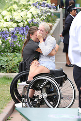 Pippa Middleton and celebrities leaving The All England Club in London after the men's finals. 16 Jul 2017 Pictured: Marjolein Buis ,Diede de Groot. Photo credit: MEGA TheMegaAgency.com +1 888 505 6342