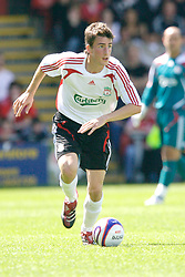 Crewe, England - Saturday, July 14, 2007: Liverpool's Lee Peltier in action against Crewe Alexandra during a pre-season friendly at Gresty Road. (Photo by David Rawcliffe/Propaganda)