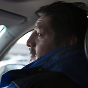 Date: 2/6/15<br /> Desk: SCI<br /> Slug: SUPER UTILIZERS<br /> Assign Id: 30170556A<br /> <br /> Prugh Jose, 42, pictured, who is homeless, gets a ride from TJ Redig, his case manager for the Hennepin Health RESOURCE Chemical and Mental Health emergency department in reach program in Minneapolis (Hennepin County), Minnesota  from his ex-wife's house in Northeast Minneapolis to a scheduled dental appointment at the Hennepin County Medical Center's Dental & Oral Surgery Clinic on February 6, 2015. <br /> <br /> Photo by Angela Jimenez for The New York Times <br /> photographer contact 917-586-0916