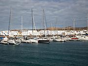 Caleta de Sebo harbour and village, La Isla Graciosa, Lanzarote, Canary Islands, Spain