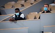 Gael Monfils watches girlfriend Elina Svitolina during the second round at the Roland Garros 2020, Grand Slam tennis tournament, on September 30, 2020 at Roland Garros stadium in Paris, France - Photo Rob Prange / Spain ProSportsImages / DPPI / ProSportsImages / DPPI