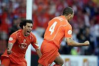 ◊Copyright:<br />GEPA pictures<br />◊Photographer:<br />Dominic Ebenbichler<br />◊Name:<br />Nistelrooy<br />◊Rubric:<br />Sport<br />◊Type:<br />Fussball<br />◊Event:<br />Euro 2004, Europameisterschaft, EM, Tschechien vs Niederlande, CZE vs NED<br />◊Site:<br />Aveiro, Portugal<br />◊Date:<br />19/06/04<br />◊Description:<br />Ruud van Nistelrooy (NED), Wlfred Bouma (NED)<br />◊Archive:<br />DCSDE-190604721<br />◊RegDate:<br />19.06.2004<br />◊Note:<br />8 MB - RL/ RL -  Gemaess UEFA keine Nutzungsrechte für Mobiltelefone, PDAs und MMS- Dienste - no MOBILE - no PDAs - no MMS