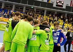 23.10.2016, BSFZ Suedstadt, Maria Enzersdorf, AUT, HLA, SG INSIGNIS Handball WESTWIEN vs Moser Medical UHK Krems, Grunddurchgang, 9. Runde, im Bild die Mannschaft von WestWien nach dem Spiel// during Handball League Austria, 9 th round match between SG INSIGNIS Handball WESTWIEN and Moser Medical UHK Krems at the BSFZ Suedstadt, Maria Enzersdorf, Austria on 2016/10/23, EXPA Pictures © 2016, PhotoCredit: EXPA/ Sebastian Pucher