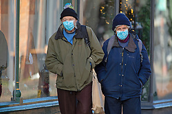 © Licensed to London News Pictures. 01/12/2020. <br /> Rochester, UK. Shoppers wearing masks in Rochester High Street in Medway, Kent today. Kent has two of the worst effected Coronavirus areas in England with Medway behind Swale despite a fall in infections. Kent will be placed in tier 3 tomorrow when the lockdown ends. Photo credit:Grant Falvey/LNP