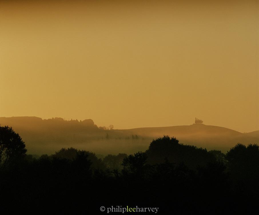 Landscape on outskirts of Siena, Tuscany, Italy