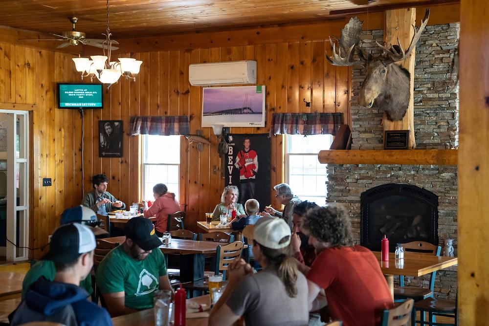 Scenes from the Thunder Bay Inn in Big Bay, Michigan.