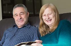 Alzheimer sufferer Yvonne Salomon and her husband Trevor in their family home in Pinner. Pinner, London, March 12 2018.